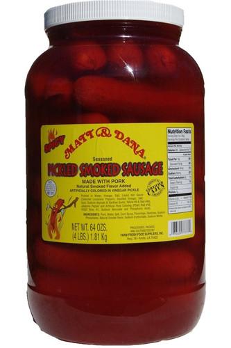 EXPIRED Matt & Dana Pickled Spicy Smoked Sausage - Gallon