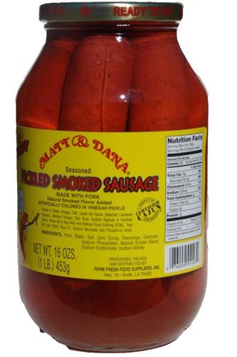 Matt & Dana Spicy Pickled Smoked Sausage - 1 lb