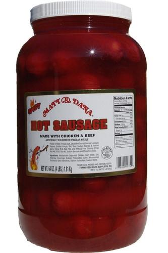 Matt & Dana Hot Sausage - 4 lbs