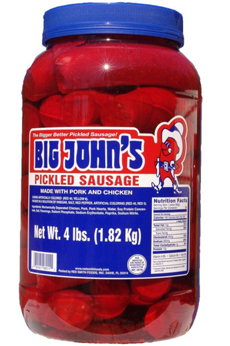 Big John's Pickled Sausage - 4 Gallons - Case - 16 lbs