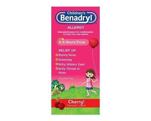Children's Benadryl Cherry Flavour • 4 oz