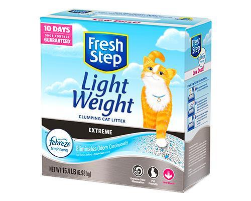 Fresh Step Light Weight Clumping Cat Litter-Febreze • 15 lb