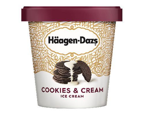 Haagen Dazs Ice Cream Cookies & Cream • 415 g