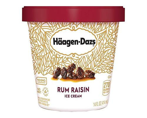 Haagen Dazs Ice Cream Rum & Raisins • 415 g