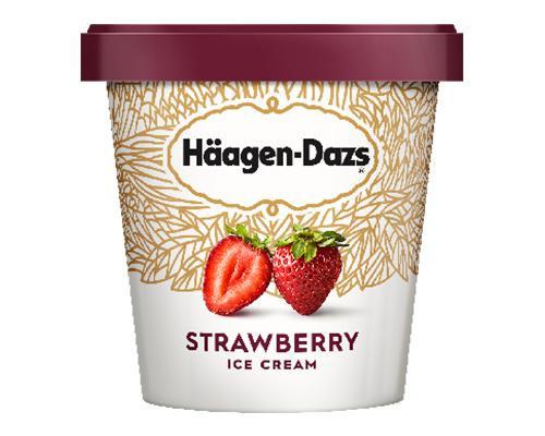 Haagen Dazs Ice Cream Strawberry • 415 g