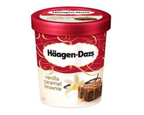 Haagen Dazs Ice Cream Vanilla Caramel Brownie • 415 g