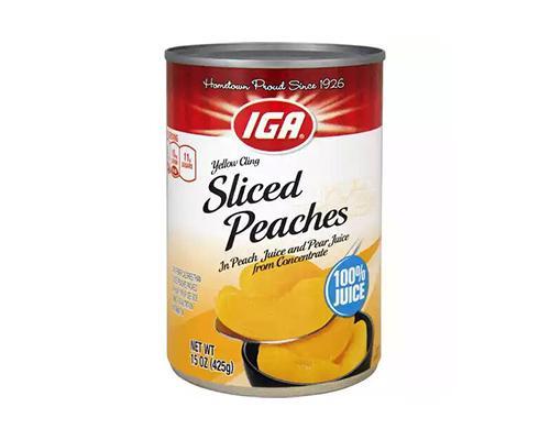 IGA Peach Slices • 15 oz