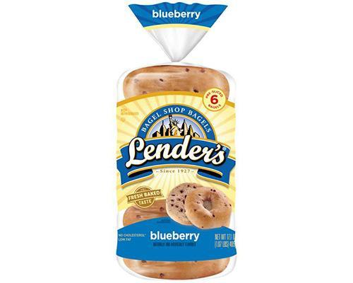 Lender's Bagel Blueberry - 6 ct • 17 oz