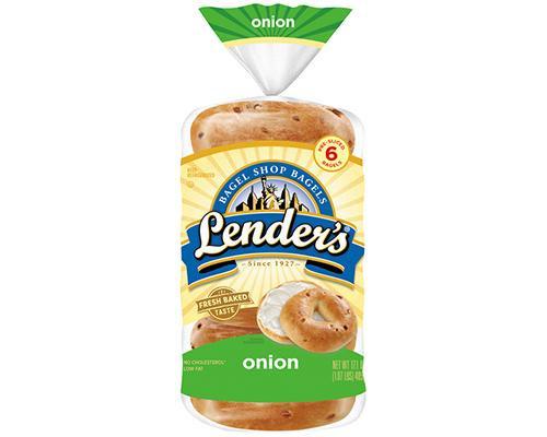 Lender's Bagel Onion - 6 ct • 17 oz