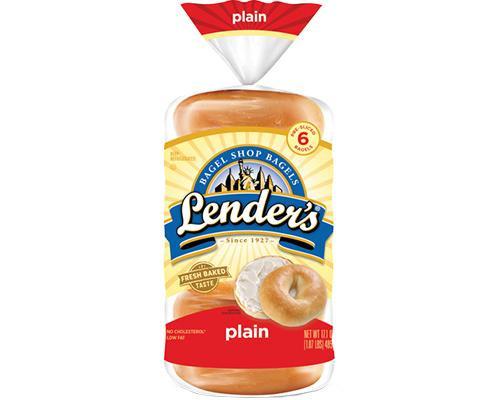 Lender's Bagel Plain - 6 ct • 17 oz