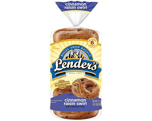 Lender's Bagels Cinnamon Raisin Swirl - 6 ct • 17 oz