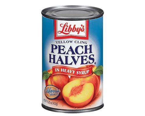 Libby's Peach Halves • 15.25 oz