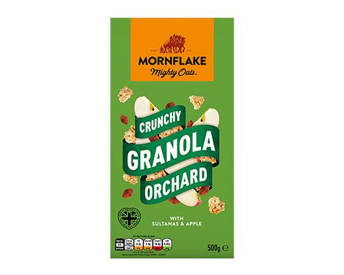 Mornflake Mighty Oats Crunchy Granola Orchard with Sultanas & Apple • 500 g