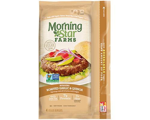 Morning Star Veggie Burgers Roasted Garlic & Quinoa • 9 oz