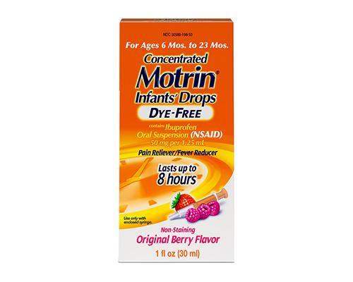 Motrin Infants Drops 6 mo to 23 mo Original Berry Flavor • 1 oz