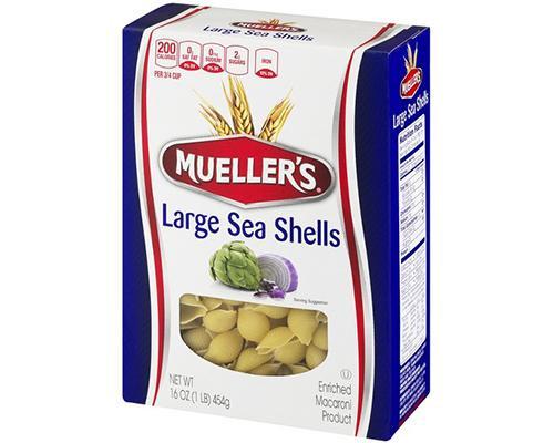 Mueller's Large Sea Shells • 16 oz