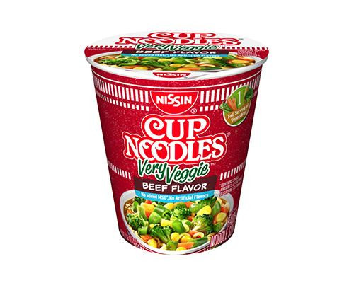 Nissin Cup Noodles Very Veggie Beef • 2.25 oz