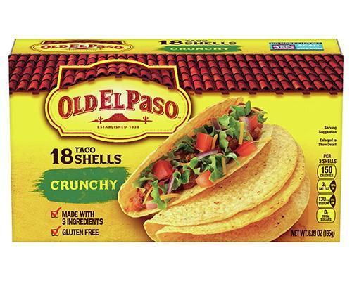 Old El Paso Taco Shells Crunchy - 18 ct • 6.89 oz