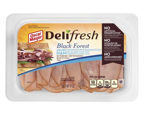Oscar Mayer Deli Fresh Black Forest Uncured Ham • 9 oz