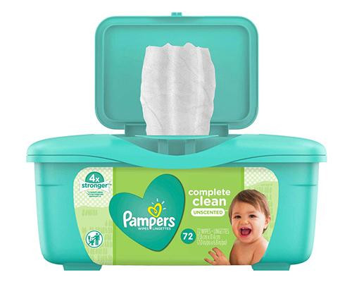 Pampers Wipes Complete Clean Unscented - 72 ct