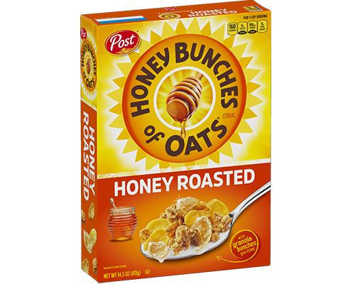 Post Honey Bunches of Oats Honey Roasted • 14.5 oz