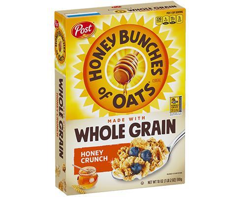 Post Honey Bunches of Oats Whole Grain Honey Crunch • 18 oz