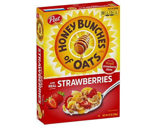 Post Honey Bunches of Oats with Strawberries • 13 oz