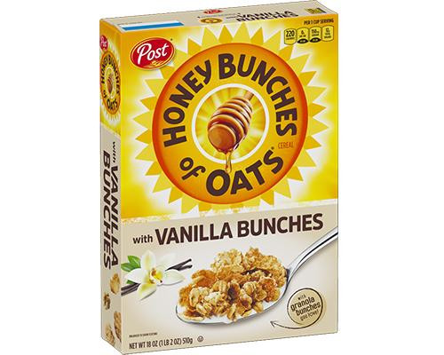 Post Honey Bunches of Oats with Vanilla Bunches  • 18 oz