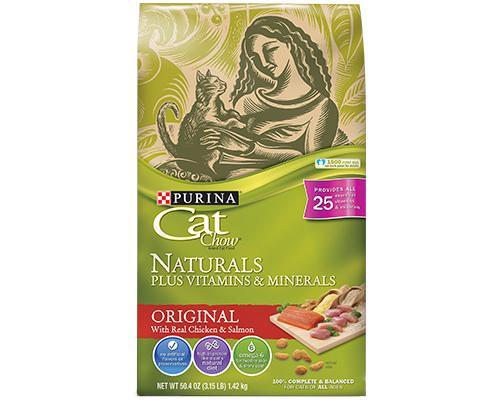 Purina Cat Chow Naturals Original Chicken & Salmon • 50 oz