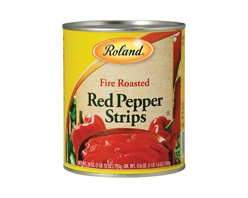 Roland Fire Roasted Red Pepper Strips • 17.6 oz