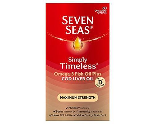 Seven Seas Cod Liver Oil Plus Omega 3 Fish Oil - 60 ct