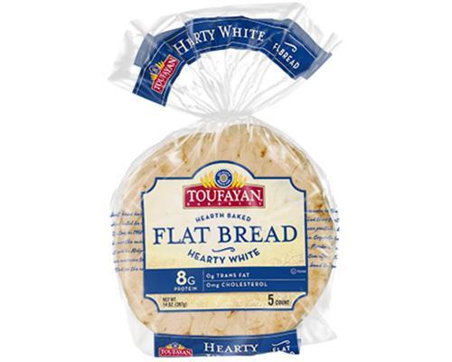 Toufayan Flat Bread Hearty White - 5 ct • 14 oz