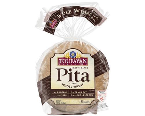 Toufayan Flat Bread Whole Wheat - 6 ct • 12 oz