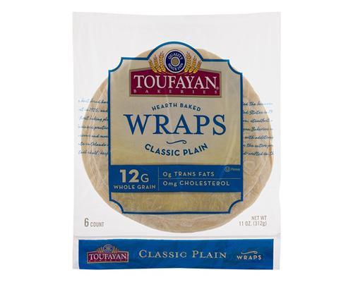 Toufayan Hearth Baked Wraps Classic Plain - 6 ct • 11 oz