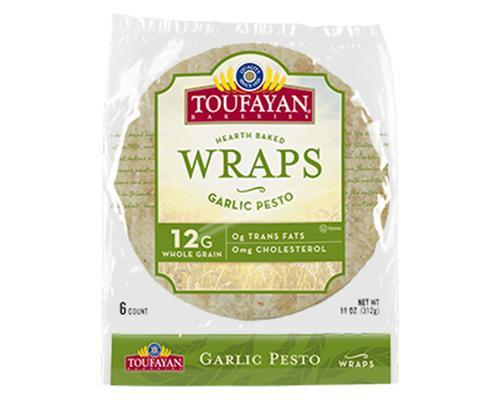 Toufayan Hearth Baked Wraps Garlic Pesto - 6 ct • 11 oz