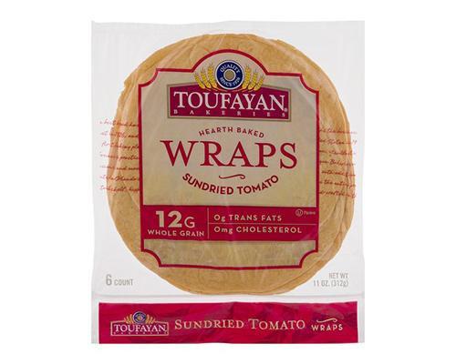 Toufayan Hearth Baked Wraps Sun Dried Tomatoes - 6 ct • 11 oz