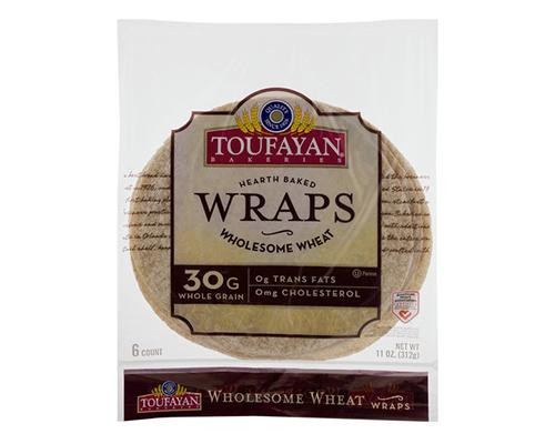 Toufayan Hearth Baked Wraps Wholesome Wheat - 6 ct • 11 oz