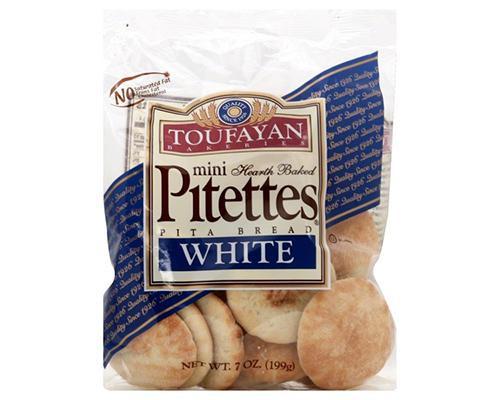 Toufayan Mini Pitettes Pita Bread White • 7 oz