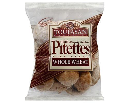 Toufayan Mini Pitettes Pita Bread Whole Wheat • 7 oz