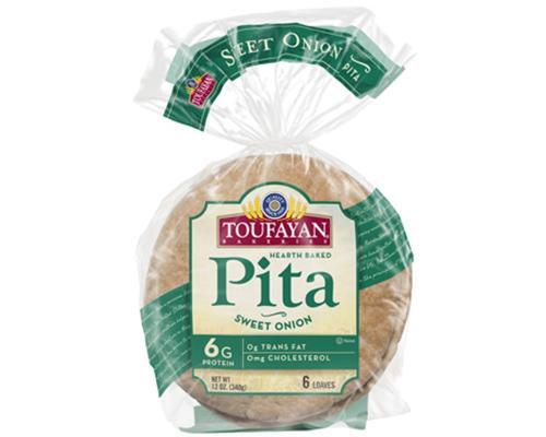 Toufayan Pita Bread Sweet Onions - 6 ct • 12 oz
