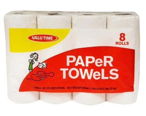 Valu Time Paper Towels - 8 ct