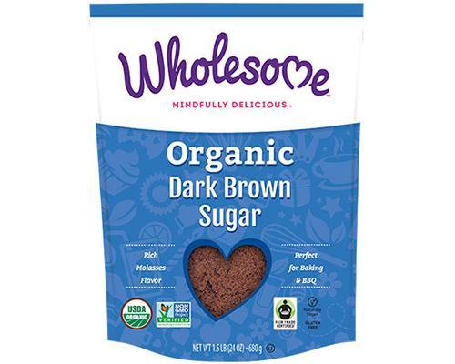 Wholesome Organic Dark Brown Sugar • 24 oz