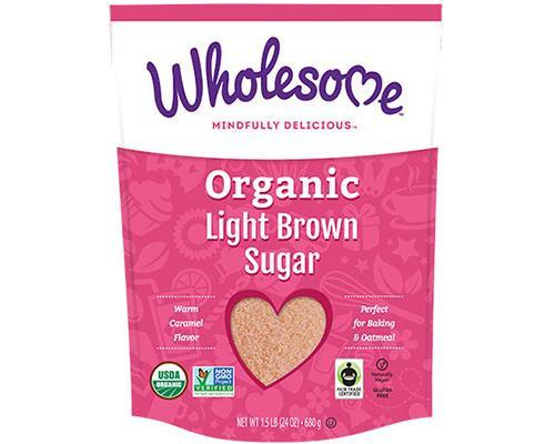 Wholesome Organic Light Brown Sugar • 24 oz