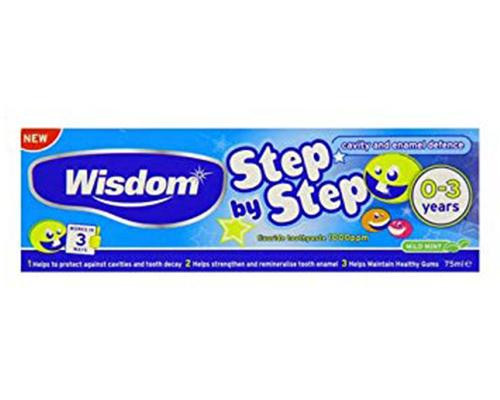 Wisdom Step By Step Toothpaste • 2.5 oz