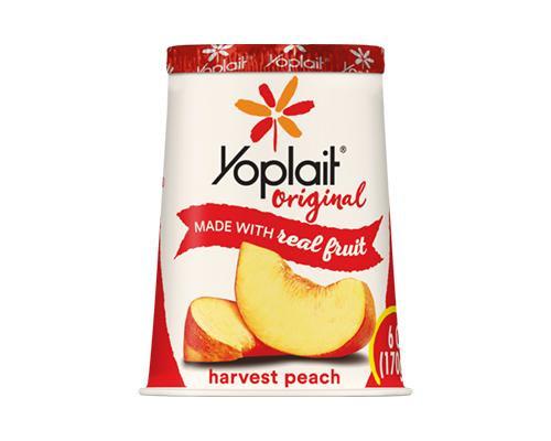 Yoplait Yogurt Harvest Peach • 6 oz