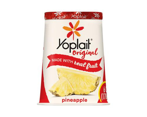 Yoplait Yogurt Pineapple • 6 oz