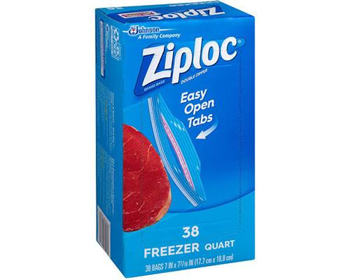 Ziploc Easy Open Freezer Quart - 38 ct