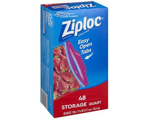 Ziploc Easy Open Quart - 48 ct