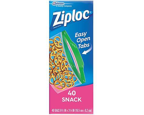 Ziploc Easy Open Snack - 40 ct