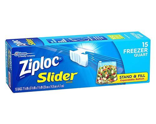 Ziploc Slider Freezer Bags Quart - 15 ct